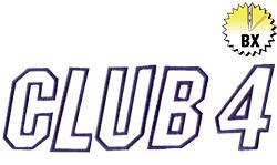 Club 4 1.68in embroidery font