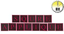 Square Applique 3.46in embroidery font