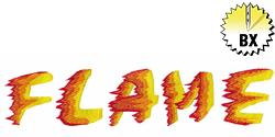 Flame 2.40in embroidery font