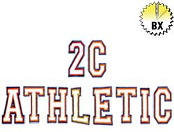 2C Athletic 3in embroidery font