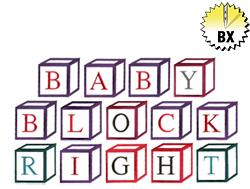 Right Baby Block 2.50in embroidery font