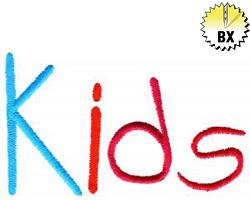 Kids 2.20in embroidery font