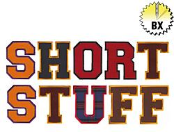 Short Stuff 4.30in embroidery font