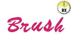 Brush 1.20in embroidery font
