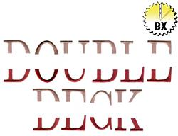 Double Deck 2.50in embroidery font