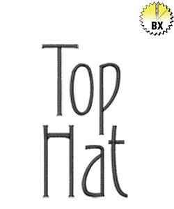 Top Hat 2.70in embroidery font