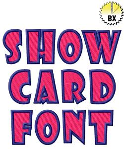 Show Card Font 1.19in embroidery font