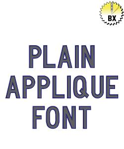 Plain Applique Font 5.15in embroidery font