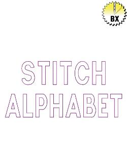 Stitch Alphabet 2in embroidery font