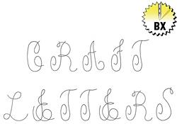 Craft Letters 1.50in embroidery font