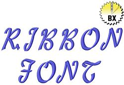 Ribbon Alphabet embroidery font