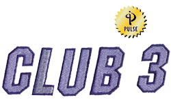 Club 3 embroidery font