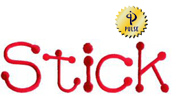 Stick embroidery font