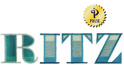 Ritz embroidery font