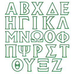 Toga Applique embroidery font