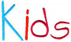 Kids embroidery font