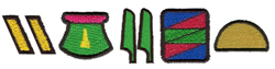 Heiroglyphics embroidery font