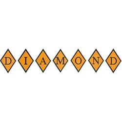 Diamond Applique embroidery font