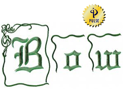 Bow embroidery font