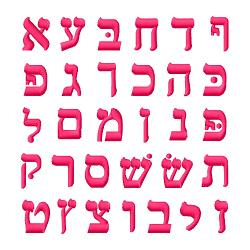 Hebrew Alphabet embroidery font