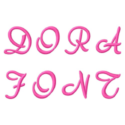 Dora Font embroidery font