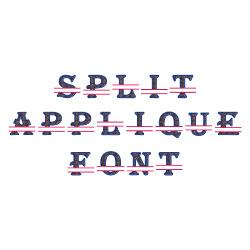 Split Applique embroidery font