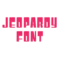 Jeopardy Font embroidery font