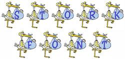 Stork Font embroidery font