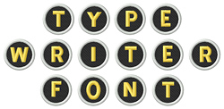Typewriter Alphabet embroidery font