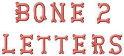 Bones Letters embroidery font