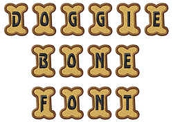 Doggie Letters embroidery font