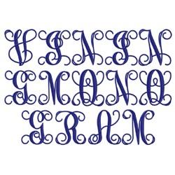 Vining Corner Font embroidery font