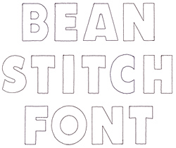 Bean Stitch Applique embroidery font