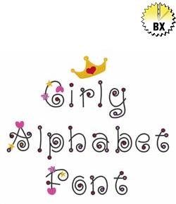 Girly Alphabet Font By Great Notions Embrilliance Fonts On
