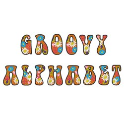 GROOVY ALPHABET Embroidery Font