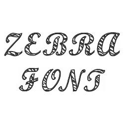 Zebra Script by Great Notions Home Format Fonts on ... Zebra 0 Font
