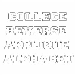 college reverse applique alphabet embroidery font