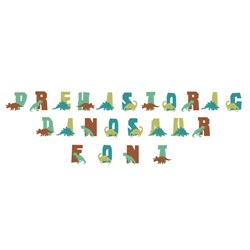 Prehistoric Dinosaur embroidery font
