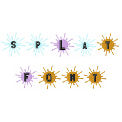 Splat Font embroidery font