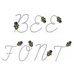 Bee Font embroidery font