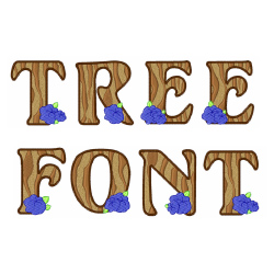 Tree Font embroidery font