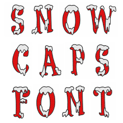 Snow Caps Font embroidery font