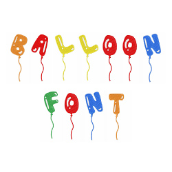 Balloon Font embroidery font