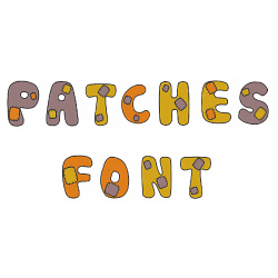 Patches Font embroidery font