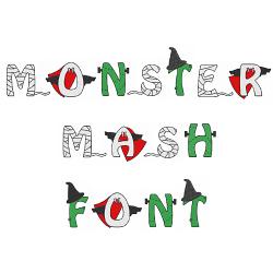 Monster Mash Font embroidery font