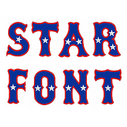 Star Font embroidery font