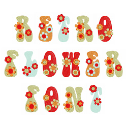 Retro Flower Font embroidery font