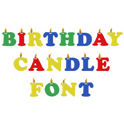 Birthday Candle Font embroidery font