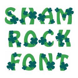 Shamrock Font embroidery font