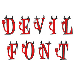 Devil Font embroidery font